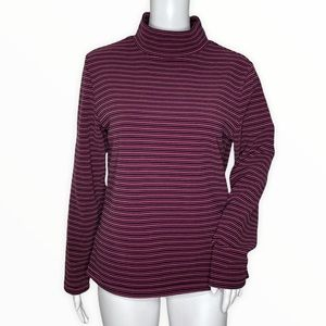 Pro Cam-Fis Turtleneck Top Pink Striped Pullover